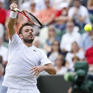 Stan Wawrinka, pictured, defeated Denis Istomin 6-3 6-3 6-4