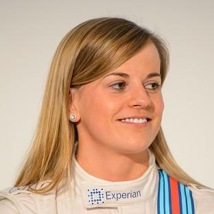 Susie Wolff will dive in front of 70,000 spectators at Silverstone on Friday