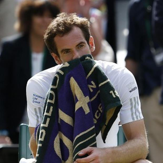 Salisbury Journal: Andy Murray after losing to Bulgaria's Grigor Dimitrov during day 10 of Wimbledon
