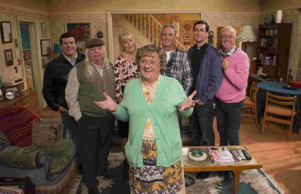 Brendan O'Carroll as Agnes Brown and other supporting cast members Picture: PA Photo/UPI Media