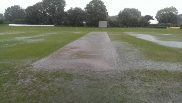 Winterbourne cricket ground was washed out at the weekend.