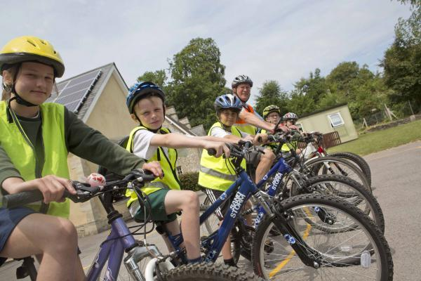 Cycling skills at Chilmark Primary