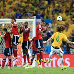 David Luiz scored Brazil's second