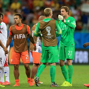 Tim Krul, right, made a crucial impact from the bench