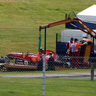 Ferrari's Kimi Raikkonen may sit out testing at Silverstone next week after a heavy crash on the opening lap of Sunday's British Grand Prix