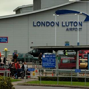 A man was arrested at Luton Airport before he got on a flight to Istanbul