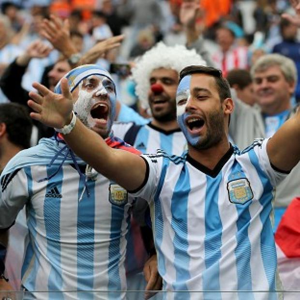 Salisbury Journal: Fans of Argentina and Germany living in the UK gathered to watch the World Cup final
