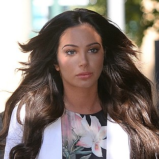 Former X Factor judge Tulisa Contostavlos arrives at Southwark Crown Court in London