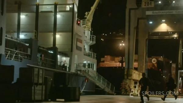 Southampton Docks, as seen in the trailer to the finale of 24: Live Another Day