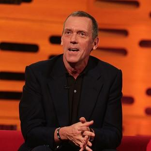 Hugh Laurie doesn't like the way he looks or sounds