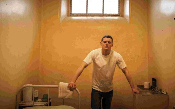 Jack O'Connell as Eric in Starred Up Picture: PA Photo/Twentieth Century Fox