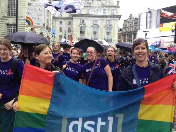 Dstl workers in the London Pride parade