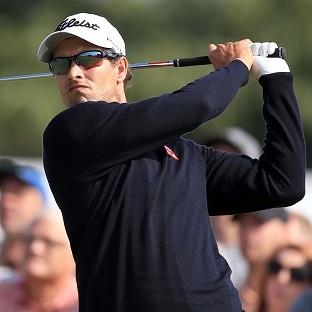 Adam Scott has dropped back to two under