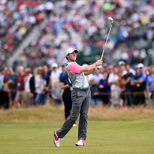 Rory McIlroy, pictured, saw off stiff competition from Sergio Garcia to win the Open