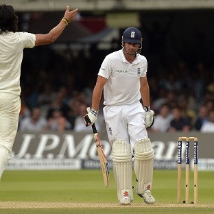 Alastair Cook failed again with the bat as India took control of the second Test