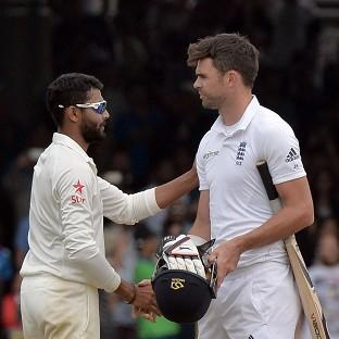 James Anderson, right, will be quizzed about charges related to 'abusing and pushing' Ravindra Jadeja, left