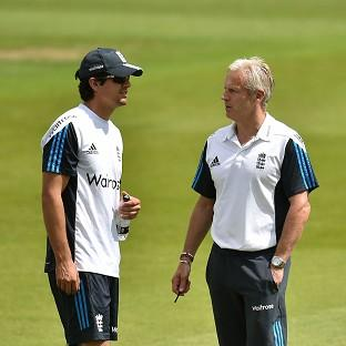 Peter Moores, right, is convinced Alastair Cook, left, is the right man to lead England