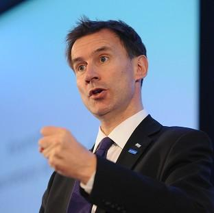 The number of NHS trusts referred to Health Secretary Jeremy Hunt over financial concerns increased almost three-fold in a year