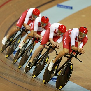 Sir Bradley Wiggins, right, was forced to settle for silver on his return to the track