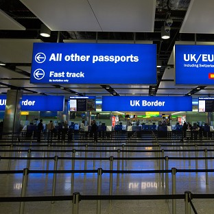 A man was stopped at Heathrow Airport over conspiracy to commi