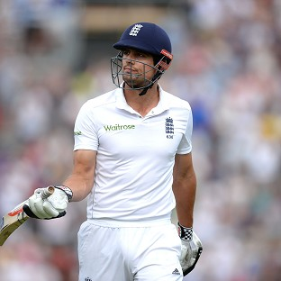 England captain Alastair Cook fell five runs short of a much-needed century