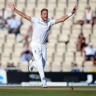 Stuart Broad took three wickets on day three