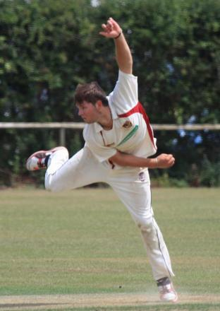 Jake Foley on his way to another wicket