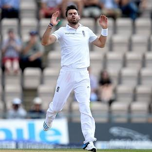 James Anderson completed a five-wicket haul, but was still not all smiles on his 32nd birthday