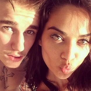 Justin Bieber posted this snap of himself with model Shanina Shaik on Instagram