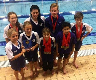 Some of the medal winners for Durrington Otters