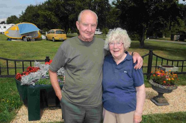Brian and Margaret Hayter of Coombe Carvan Park have just won an AA Gold award. DC5428P1