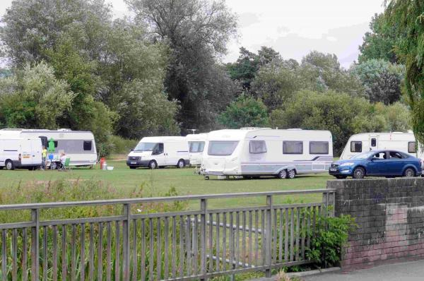Travellers move on after police order