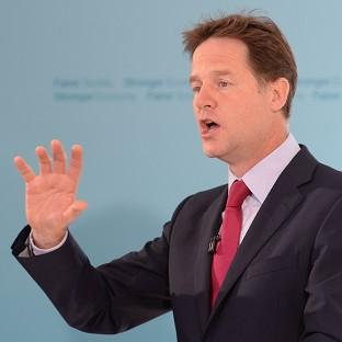 Liberal Democrat leader Nick Clegg has called mental health issues a