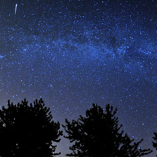 The debris stream left by comet Swift-Tuttle produces the Perseids