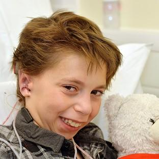 Kieran Sorkin received a new set of ears after experts at Great Ormond Street Hospital perform