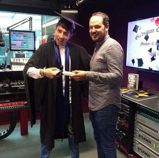 Nick Grimshaw got his degree result live on air (BBC Radio 1 Brea