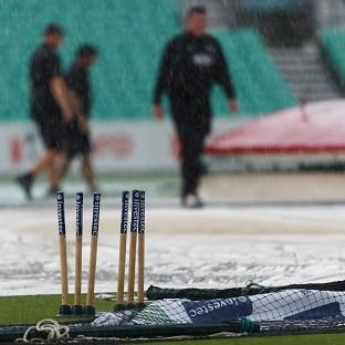 Rain delayed the start of the fifth Test