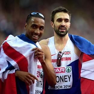 Martyn Rooney, right, and Matthew Hudson-Smith were among the medals in the 400 metres
