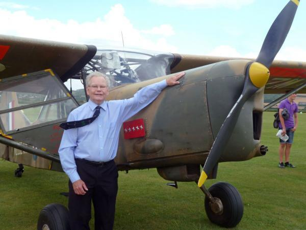 Will Harrell with the Auster WZ 662 he had not seen for more than half a century