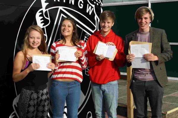 Ringwood students with their results