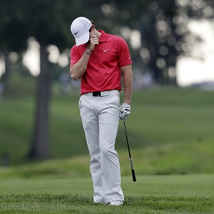 Rory McIlroy was finding it hard going in New Jersey (AP)