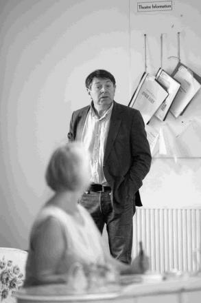 Graham Seed in rehearsals for Bedroom Farce