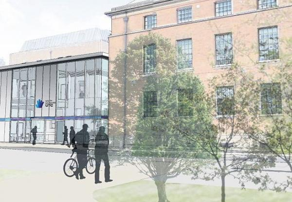 Apply for a place now – an artist's impression of Salisbury's UTC, which opens next year