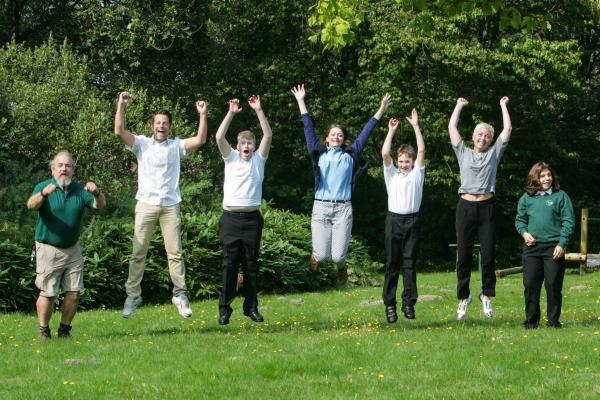 Staff and pupils celebrate their glowing Ofsted report