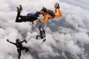 Skydivers get into Halloween spirit