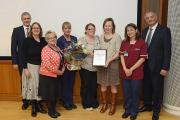 Customer Care Team Award winner: The Hospice team with Peter Hill, Chief Executive (left) and Nick Marsden