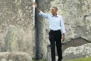 'How cool is this?' President Barack Obama at Stonehenge in September following a NATO summit