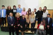 Students pictured at The Burgate Sixth Form A Level presentation evening.