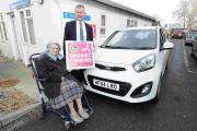 Pensioner with no licence scoops brand new car in charity raffle