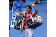 Rafael Nadal, pictured, exited the Australian Open after a straight-sets defeat to Tomas Berdych (AP)